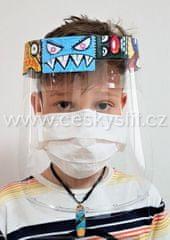 Český štít Obličejový ochranný štít pro děti JUNIOR (7-13 let) vzor Graffiti 2