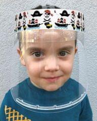 Český štít Obličejový ochranný štít pro děti BABY (3-6 let) vzor Piráti