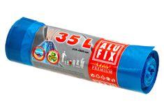 Alufix zatahovací odpadkové pytle modré, 35 l 15 ks