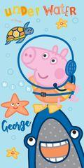 SETINO Plážová bavlněná osuška Pepa Pig - modrá - 70x140