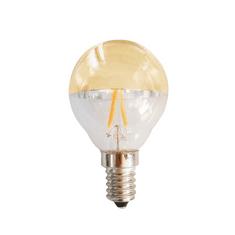 Diolamp Retro LED Filament zrcadlová žárovka 4W/230V/E14/2700K/400Lm/180°/DIM, zlatý vrchlík