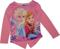 Dívčí tričko Frozen s Elsou a Annou růžové.