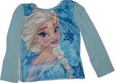 Dívčí tričko s dlouhým rukávem Frozen s Elsou sv.modrá.