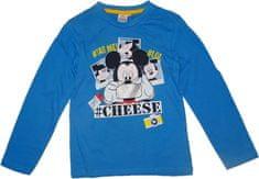 Disney Chlapecké modré tričko s dlouhým rukávem Mickey Mouse.