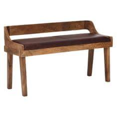 Bruxxi Jídelní lavice Nora, 108 cm, hnědá