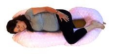 KHC Těhotenský kojící relaxační polštář Zuzanka 260 cm Bílé hvězdičky na růžové Pratelný potah 25 barevných variant