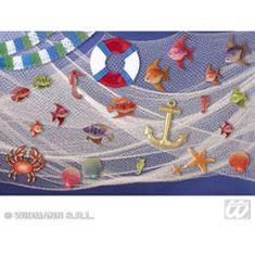 Dekorace rybářská - námořní síť - 6 x 2 m