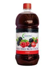 SAGENA Sirup s podielom min. 50% ovocia - Malina-Černica 1L