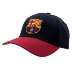 CurePink Čepice kšiltova FC Barcelona: NAVY (nastavitelná) modrá