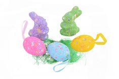 Emba Trade Velikonoční dekorace 5 ks ŽLUTÁ