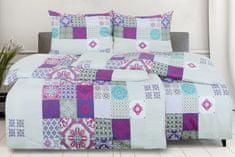 Emba Trade Obliečky z mikrovlákna s bavlneným efektom 4dielne MANSIRA fialové