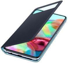 SAMSUNG Flipové puzdro S View Wallet Cover pre Samsung Galaxy A71 EF-EA715PBEGEU, čierna