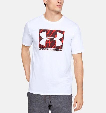 Under Armour Sportstyle Camo Boxed Logo moška majica, kratek rokav, L, bela