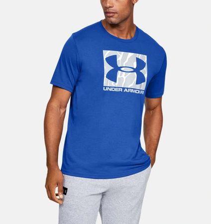 Under Armour Sportstyle Camo Boxed Logo moška majica, kratek rokav, L, modra