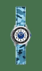 CLOCKODILE Svítící modré chlapecké hodinky CLOCKODILE ARMY s maskáčovým vzorem