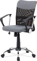 ART Kancelářská židle, šedá látka, černá MESH, houpací mech, kříž chrom KA-V202 GREY Art