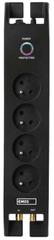 EMOS Prepäťová ochrana 1800J - 4 zásuvky, 2 m, čierna (1909040201)