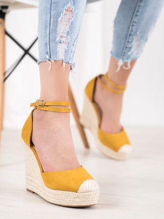 Női körömcipő 64900 + Nőin zokni Gatta Calzino Strech, sárga és arany árnyalat, 38