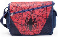 CurePink Taška na rameno Marvel|Spiderman: The Ultimate Spiderman (40 x 60 cm) modrá polyester