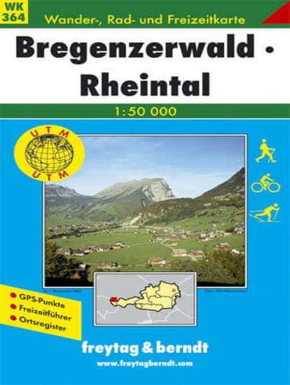 World Maps WK364 Bregenzerwald 1:50t turistická mapa FB