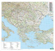 World Maps Balkán a juhovýchodná Európa cestná 88x100cm papier nástenná mapa bez líšt