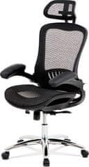 ART Kancelářská židle, synchronní mech., černá MESH, kovový kříž KA-A185 BK Art