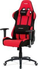ART Kancelářská židle houpací mech., červená látka, kovový kříž KA-F01 RED Art