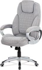 ART Kancelářská židle, šedá látka, kříž plast stříbrný, houpací mechanismus KA-G196 SIL2 Art
