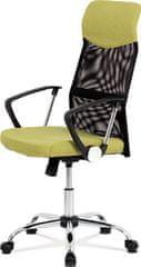 ART Kancelářská židle, houpací mech., zelená látka + černá MESH, kovový kříž KA-E301 GRN Art