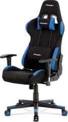 ART Kancelářská židle, modrá-černá látka, houpací mech, plastový kříž KA-F02 BLUE Art