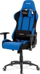ART Kancelářská židle, modrá-černá látka, houpací mech, kovový kříž KA-F01 BLUE Art