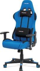 ART Kancelářská židle, modrá látka, houpací mech., plastový kříž KA-F05 BLUE Art