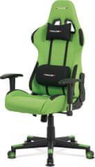 ART Kancelářská židle, zelená látka, houpací mech., plastový kříž KA-F05 GRN Art