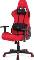 ART Kancelářská židle, červená látka, houpací mech., plastový kříž KA-F05 RED Art