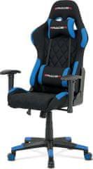 ART Kancelářská židle, modrá látka, houpací mech, kříž plast KA-V606 BLUE Art