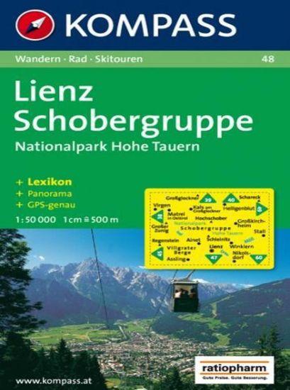 World Maps KOMPASS 48 Lienz, Schobergruppe, NP Hohe Tauern 1:50t turistická mapa