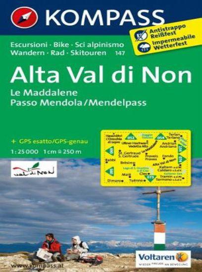 World Maps KOMPASS 147 Alta Val di Non, Le Maddalene, Passo Mendola 1:25t turistická mapa
