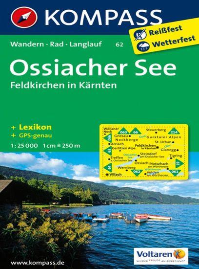 World Maps KOMPASS 62 Ossiacher See, Feldkirchen in Kärnten 1:25t turistická mapa