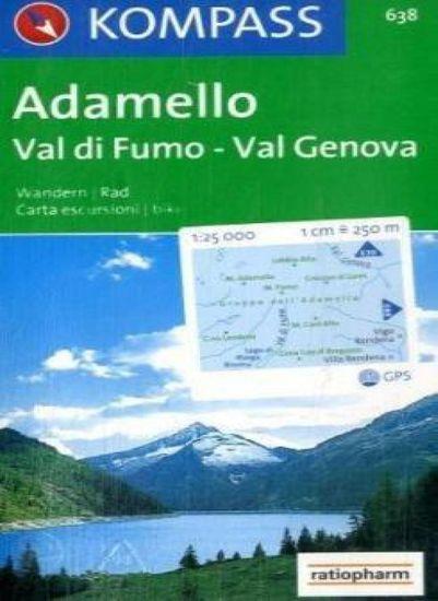 World Maps KOMPASS 638 Adamello, Val di Fumo, Val Genova 1:25t turistická mapa