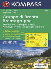 World Maps KOMPASS 688 Gruppo di Brenta,Madonna di Campiglio,Pinzolo,Andalo,Molveno 1:25t