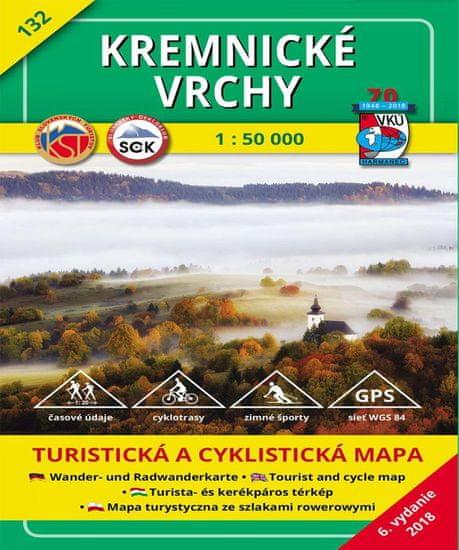 World Maps VKU132 Kremnické vrchy 1:50t turistická mapa VKÚ Harmanec /2018