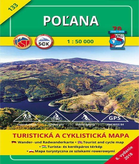 World Maps VKU133 Poľana 1:50t turistická mapa VKÚ Harmanec /2018