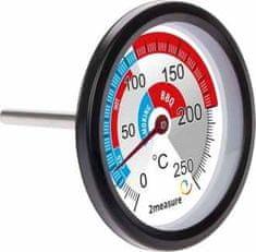 Bioterm Teploměr do udíren a BBQ 0°C + 250°C nerezový