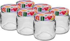 Browin Zavařovací sklenice 106 ml + bar.víčko 53 mm, 6ks