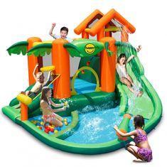 Happy Hop Vodní Play centrum - Tropický ostrov skákací hrad