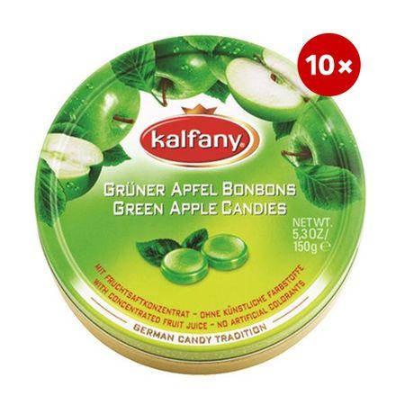 Kalfany bonboni, zeleno jabolko, 10 x 150 g