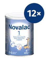 Novalac 1 začetno mleko za dojenčke, pločevinka, 400 g, 12 kosov