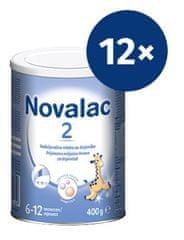 Novalac 2 nadaljevalno mleko, pločevinka, 400 g, 12 kosov