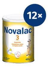 Novalac 3 nadaljevalno mleko, pločevinka, 400 g, 12 kosov