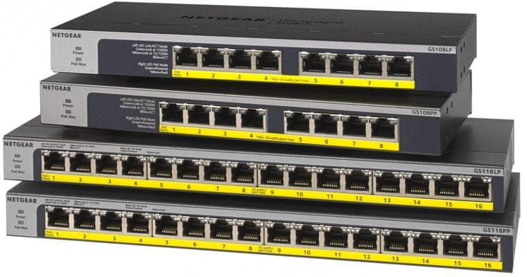 Switch Netgear GS116 (GS116GE) nagy sebesség 5 port